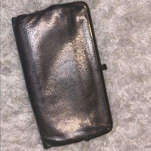 Metallic hobo wallet